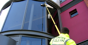 Commercial clean window cleaning service